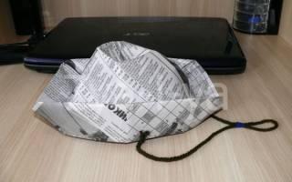 Как сделать головной убор из газеты, Панама из бумаги своими руками