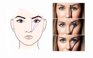 Подбор формы бровей по типу лица