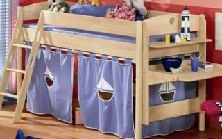 Детская зона в однокомнатной квартире, уголок для девочки в комнате