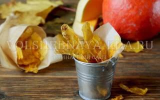 Чипсы из тыквы в домашних условиях рецепт, тыквенные сладости