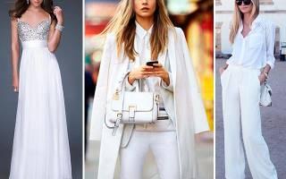Белый цвет в одежде – образ в белом