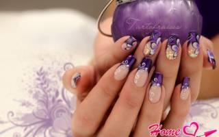 Как нарисовать цветы на ногтях пошагово, дизайн ногтей васильки