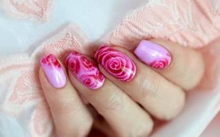 Как нарисовать розу на ногтях гель лаком – маникюр с розочками