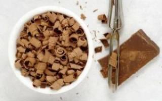 Как сделать шоколадную стружку для торта?