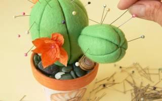 Как сделать игольницу своими руками для детей – как сшить кактус?