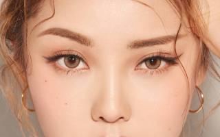 Корейский макияж на русских девушках поэтапно, брови кореянок