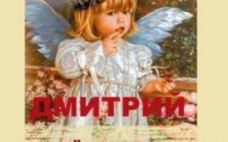 Именины Дмитрия по церковному календарю в ноябре, день Димы какого числа