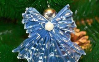 Новогодние игрушки своими руками на уличную елку, елочка в стакане