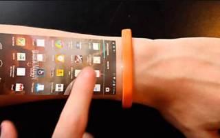 Браслет телефон с проекцией на руку Алиэкспресс – cicret смарт