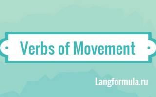 Глаголы движения на английском языке для детей