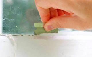 Как удалить следы от скотча на стекле?
