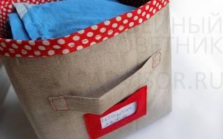Красивые коробки для хранения вещей своими руками: коробочки из ткани