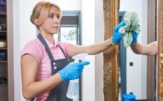 Чистка зеркал без разводов в домашних условиях, как отмыть старое зеркало?