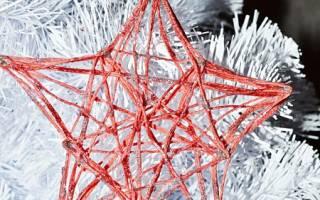 Новогодние поделки из ниток и клея – сделать вифлеемскую звезду своими руками