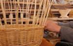 Как плести корзины из лозы для начинающих: плетение корзиночка