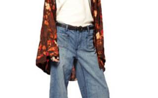 Широкие джинсы женские с чем носить