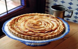 Пирог с яблоками на скорую руку — яблочная выпечка