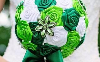 Букет невесты своими руками из атласных лент – как делать свадебные букеты?