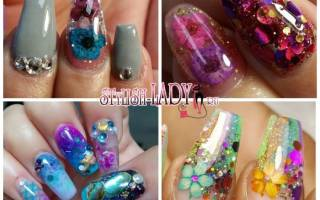 Аквариум на ногтях, маникюр с рыбками