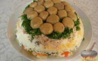 Рецепт салата лесная поляна с фото