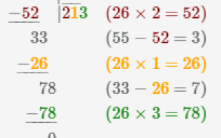 Примеры на деление трехзначных чисел на двузначное, как делить двухзначные на двухзначные с остатком?