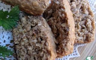 Бездрожжевой хлеб из цельнозерновой муки в духовке