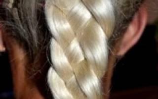 Как плести колосок из 4 прядей, плетение косы из 4