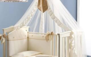 Как прикрепить балдахин на детскую кроватку?