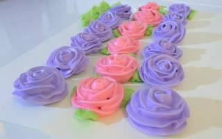 Как сделать крем для украшения торта: как делать цветы из крема