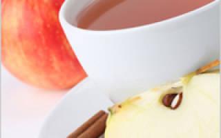Чай с яблоком и корицей рецепт