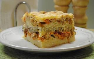 Запеканка макароны с фаршем в духовке рецепт