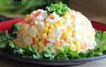Как делать крабовый салат с кукурузой?