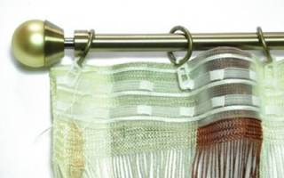 Как правильно повесить тюль на крючки?