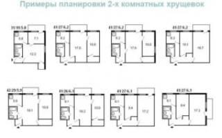 Как переделать хрущевку 2х комнатную фото?
