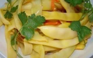 Салат из спаржевой фасоли на зиму, квашеная стручковая фасоль рецепт