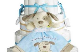 Торт из памперсов для мальчика своими руками, подарок из подгузников