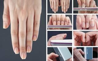 Как придать форму ногтям на руках?