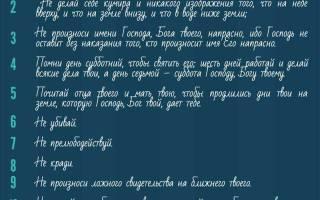 10 заповедей божьих и 7 смертных – десять грехов в православии