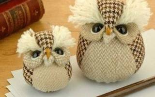 Шаблоны для шитья мягких игрушек для начинающих: выкройка совы из меха