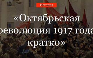 Октябрьская революция 1917 причины ход итоги: события октября 1917 года кратко