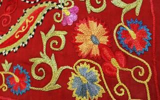 Вышивка тамбурным швом схемы и рисунки: шов цепочка как делать