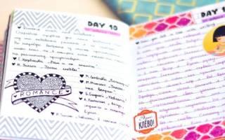 Идеи для лд для девочек 11 лет – как оформить 1 страничку личного дневника?