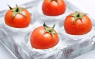 Что можно сделать из замороженных помидоров – как заморозить томат