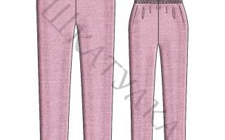 Выкройка домашних штанов для женщин на резинке, пошив брюк мастер класс