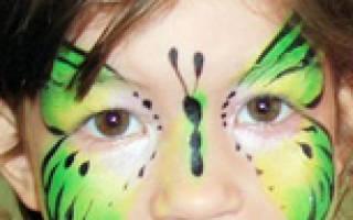 Грим животных на лице: макияж тигр