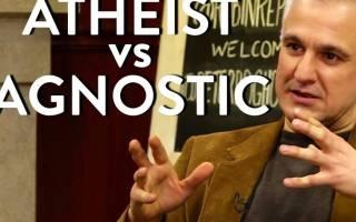 Чем отличается атеист от неверующего – агностик теист