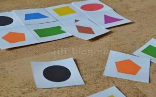 Учим фигуры для детей 3 лет, детские геометрические рисунки