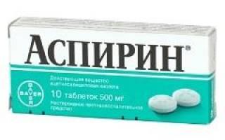 Аспирин инструкция по применению и для чего?